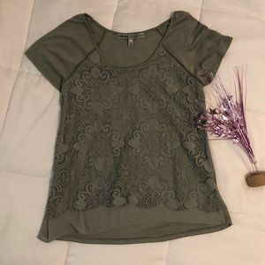 Absolutely FAMOUS Sage Green Top, Medium